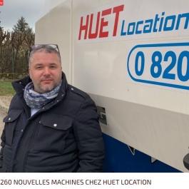 Huet Location a  massivement renouvelé son parc avec 260 nouveaux matériels  qui ont rejoint ses 9 agences en France.